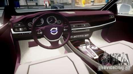 Volvo V70 2014 Unmarked Police [ELS] для GTA 4 вид сзади