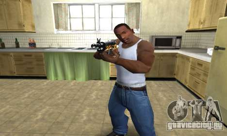 Gold Rifle для GTA San Andreas второй скриншот