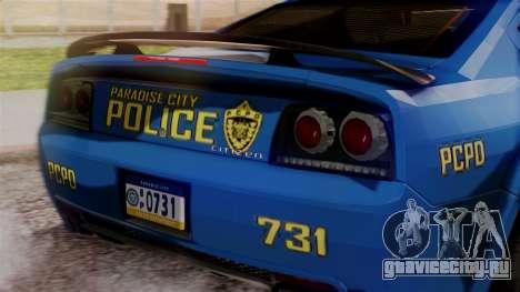 Hunter Citizen from Burnout Paradise v2 для GTA San Andreas вид сзади
