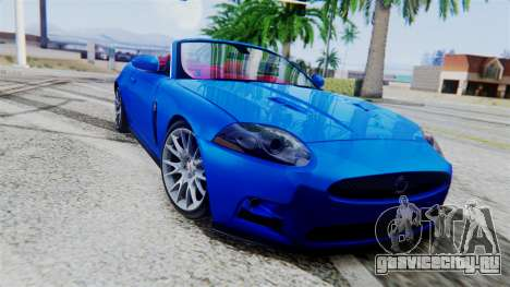 Jaguar XKR-S 2011 Cabrio для GTA San Andreas вид сзади