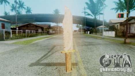 Red Dead Redemption Knife Diego Skin для GTA San Andreas второй скриншот