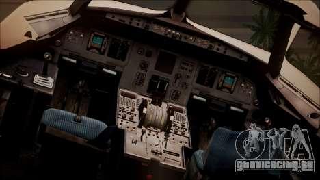Airbus A320 TAROM Romania для GTA San Andreas вид сзади