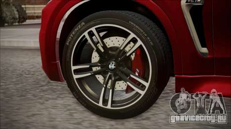 BMW X6M 2015 для GTA San Andreas вид сзади слева