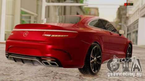 Mercedes-Benz S63 Coupe для GTA San Andreas вид слева