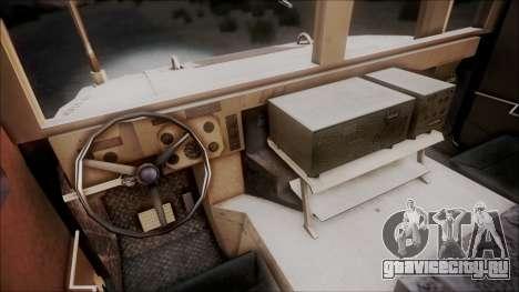 HMMWV Croatian Army ISAF Contigent для GTA San Andreas вид сзади