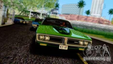 Dodge Charger Super Bee 426 Hemi (WS23) 1971 PJ для GTA San Andreas вид сверху