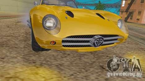 GTA 5 Benefactor Stirling IVF для GTA San Andreas вид сзади