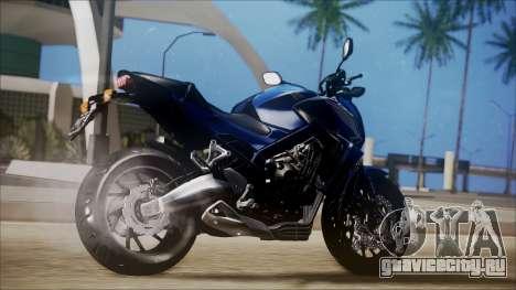 Honda CB650F Azul для GTA San Andreas вид слева