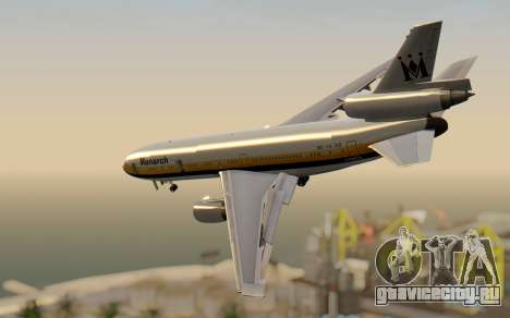 DC-10-30 Monarch Airlines для GTA San Andreas вид слева