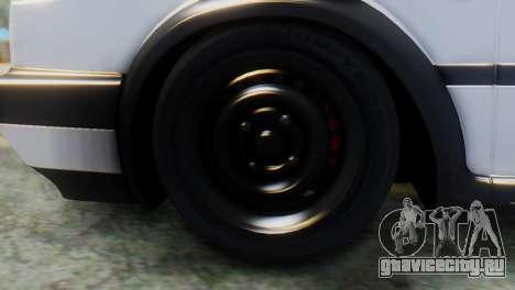Volkswagen Golf 2 для GTA San Andreas вид сзади слева