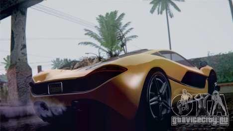 GTA 5 Progen T20 IVF для GTA San Andreas вид слева