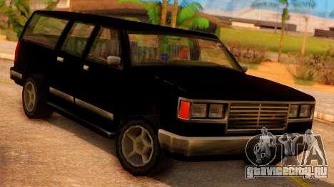 FBI 4-door Yosemite для GTA San Andreas вид сзади