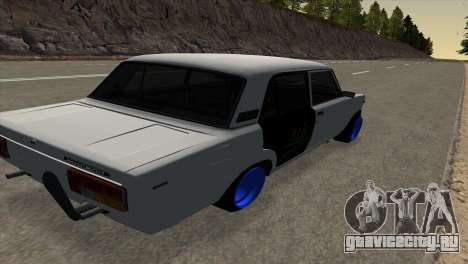 ВАЗ 2105 БК v1.0 для GTA San Andreas вид сзади слева