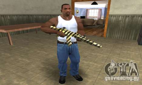 Gold Lines AK-47 для GTA San Andreas третий скриншот