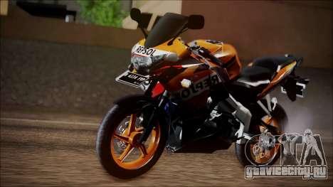Honda CBR150R Repsol CBU для GTA San Andreas вид сзади