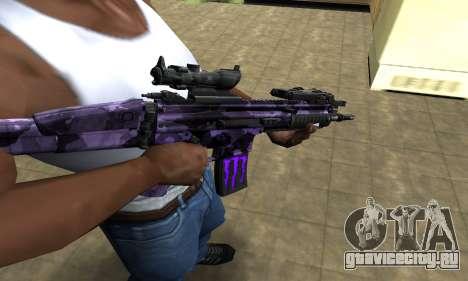 Blue Scan M4 для GTA San Andreas
