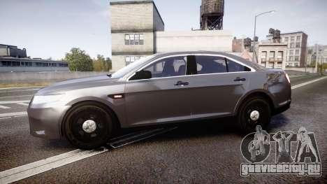 Ford Taurus 2010 Unmarked Police [ELS] для GTA 4 вид слева