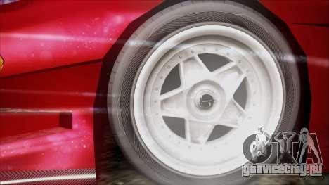 Turismo F40 для GTA San Andreas вид сзади