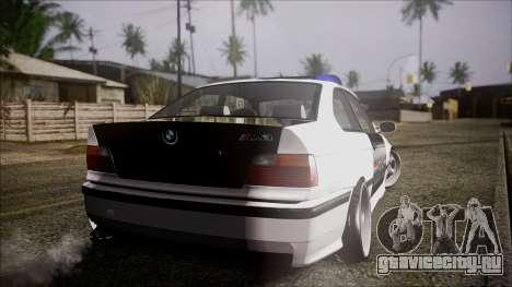 BMW M3 E36 Police для GTA San Andreas вид слева