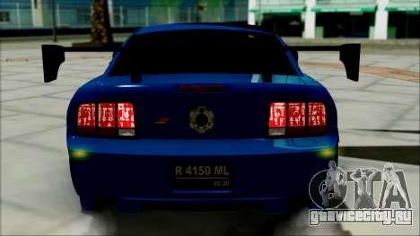 Ford Mustang GT Modification для GTA San Andreas вид изнутри