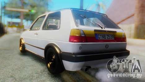 Volkswagen Golf 2 для GTA San Andreas вид слева