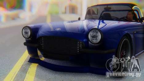 Invetero Coquette BlackFin v2 GTA 5 Plate для GTA San Andreas вид сбоку