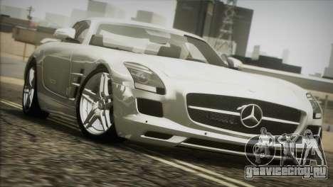 Mercedes-Benz SLS AMG 2013 для GTA San Andreas вид изнутри