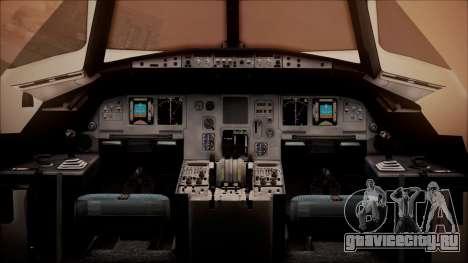 Airbus A320-200 для GTA San Andreas вид сзади