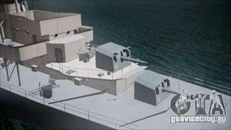 Type 34 Destroyer для GTA San Andreas вид сзади слева