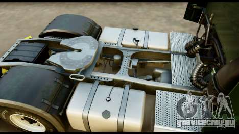 Mercedes-Benz Actros MP4 4x2 Exclusive Interior для GTA San Andreas вид сзади