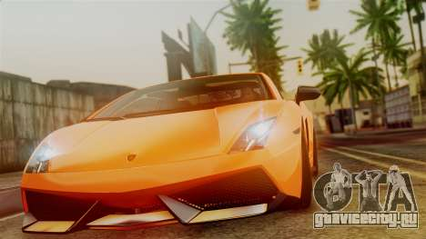 Lamborghini Gallardo Superleggera 2011 для GTA San Andreas вид сзади слева