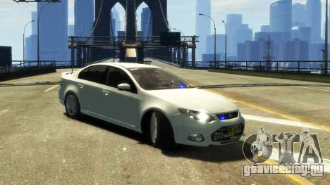 Ford Falcon FG XR6 Turbo Unmarked Police [ELS] для GTA 4