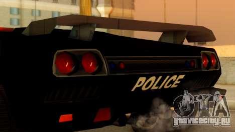 Lamborghini Diablo Police SA Style для GTA San Andreas вид справа
