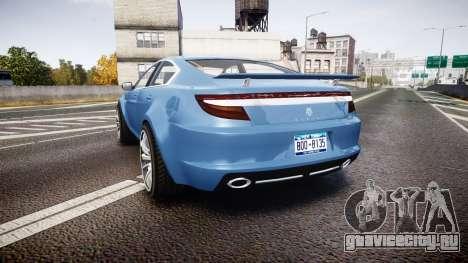 GTA V Ocelot Jackal new york plates для GTA 4 вид сзади слева
