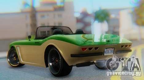 Invetero Coquette BlackFin v2 GTA 5 Plate для GTA San Andreas вид слева