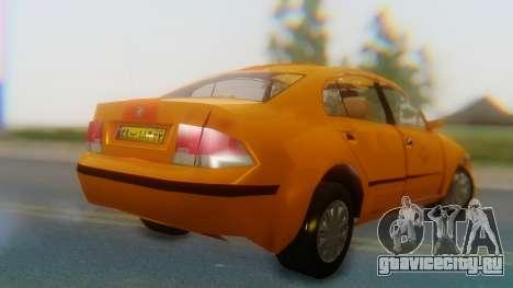 Samand Taxi для GTA San Andreas вид слева