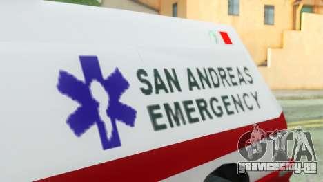 Premier Ambulance для GTA San Andreas вид справа
