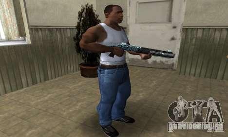 Blue Snow Shotgun для GTA San Andreas третий скриншот
