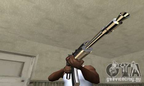 White with Black AK-47 для GTA San Andreas второй скриншот