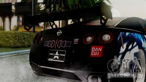 Nissan GT-R R35 Black Rock Shooter Itasha для GTA San Andreas вид справа