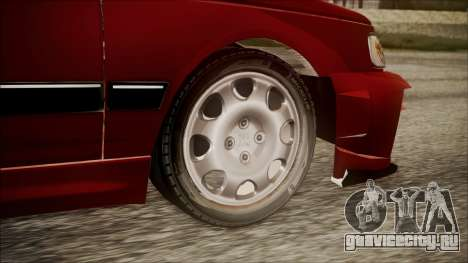 Peugeot Pars The Best Full Sport v1 для GTA San Andreas вид сзади слева