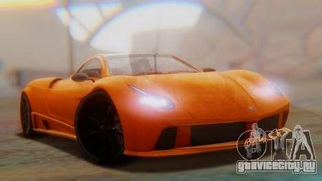 GTA 5 Pegassi Osiris SA Style для GTA San Andreas вид сзади слева