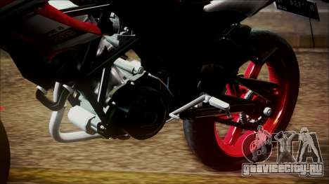 Honda CB150R Streetfire для GTA San Andreas вид сзади