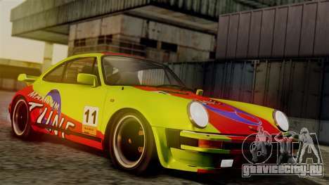 Porsche 911 Turbo (930) 1985 Kit C PJ для GTA San Andreas вид снизу