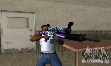 Automatic Sniper Rifle для GTA San Andreas третий скриншот