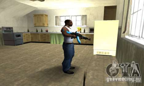 Blue Scan AK-47 для GTA San Andreas третий скриншот