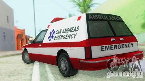 Premier Ambulance для GTA San Andreas вид слева