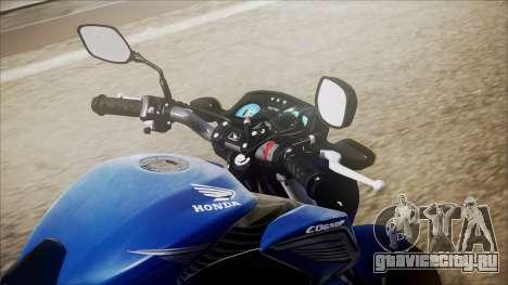 Honda CB650F Azul для GTA San Andreas вид сзади