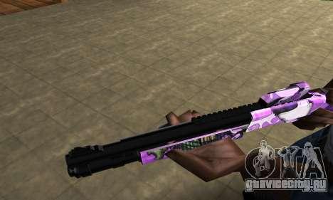 Purple World Shotgun для GTA San Andreas второй скриншот