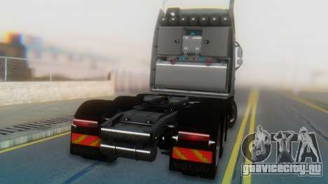 Volvo FH Euro 6 Heavy 8x4 для GTA San Andreas вид изнутри
